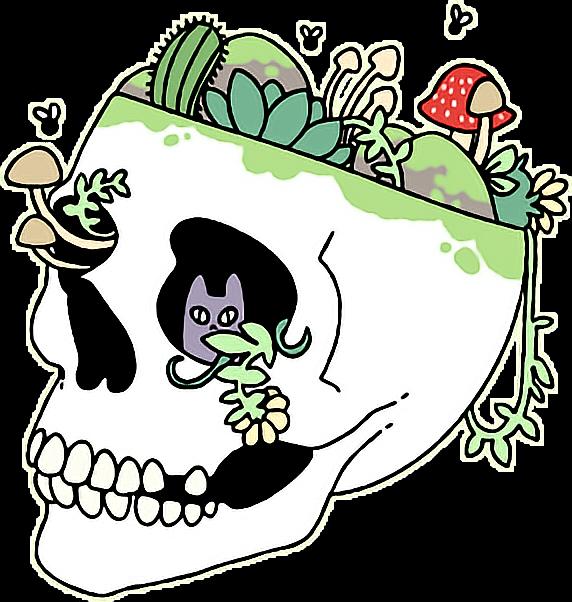 Skulls Tumblr Aesthetic: Skull Aesthetic Grunge Tumblr Plants Trippy FreeToEdit