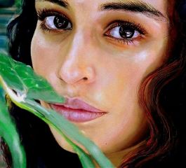 portrait woman eyes painting drawing