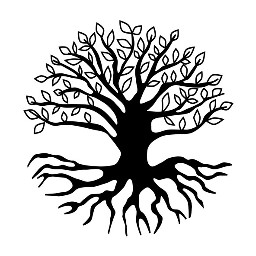 treeoflife freetoedit tree roots outline