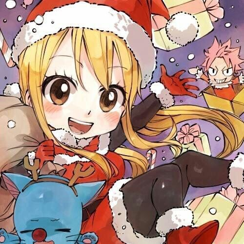 Merry Christmas From Nalu Christmas Fairytail Lucyh