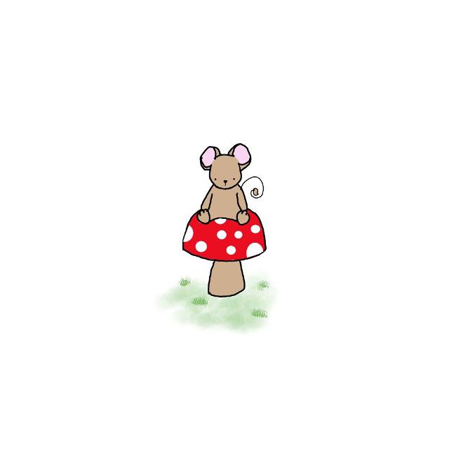 #mouse #mushroom #mydrawing #drawing  #FreeToEdit  Web ref used