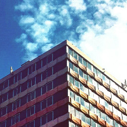 building sky bluesky architecture retro