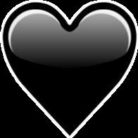 #coraçao #corazon #emojis #emoticons #emotions #indie #Black #preto