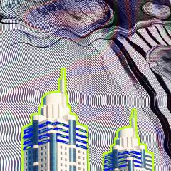 freetoedit architecture glitched outline lines