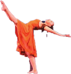 dancer orangedress burntorange feet arms