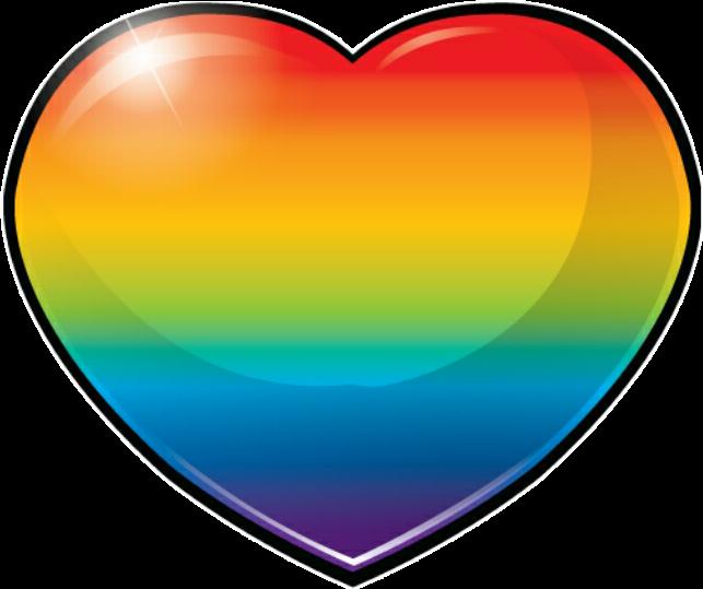 #rainbow #heart #regenbogen #herz #freetoedit