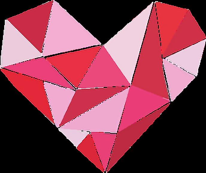 #heart #geometry #geometric #pink #FreeToEdit