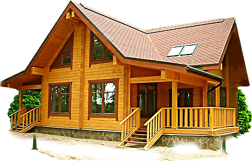 #freestickers #log cabin #house
