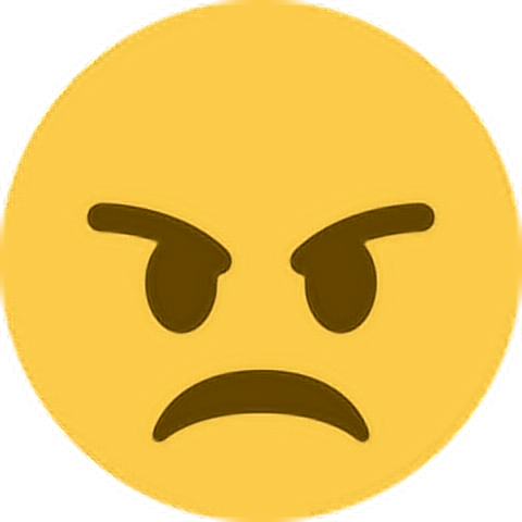 Angry Mad Upset Unhappy Emoji Emoticon Face Expression