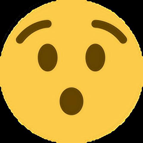 Realize Shock Oh Emoji Emoticon Face Expression Feeling