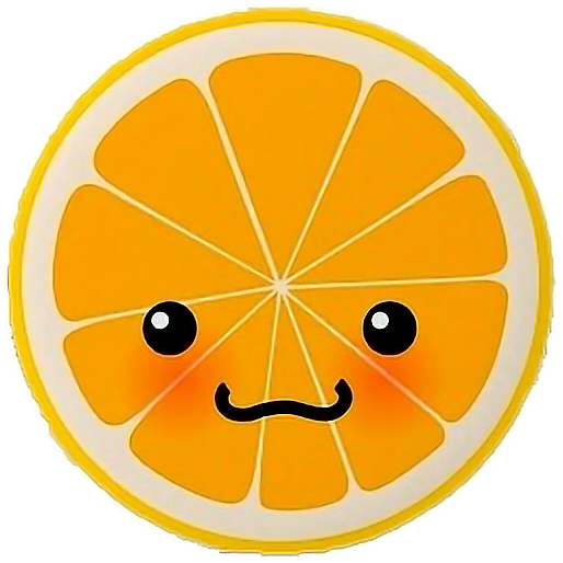 cute#kawai#orange#freetoedit