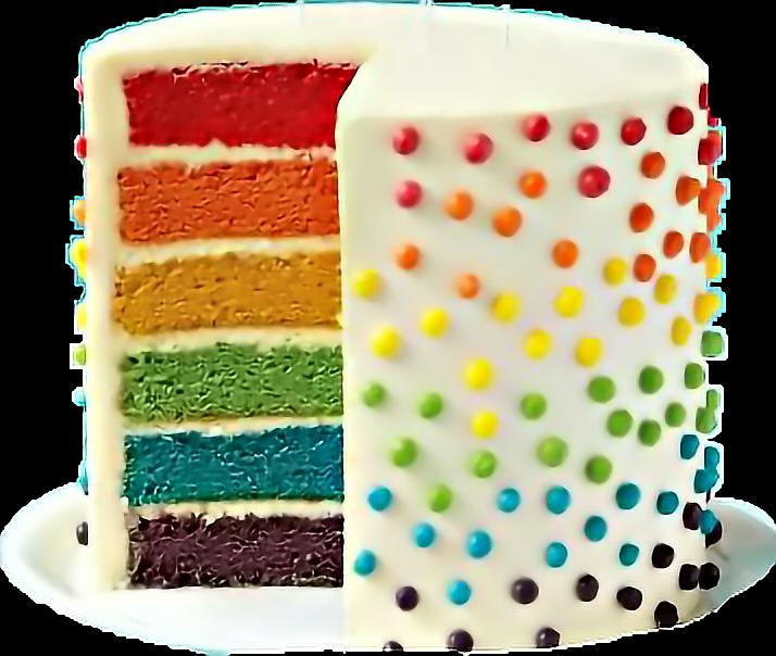 #cake #arcoiris🌈 #freetoedit