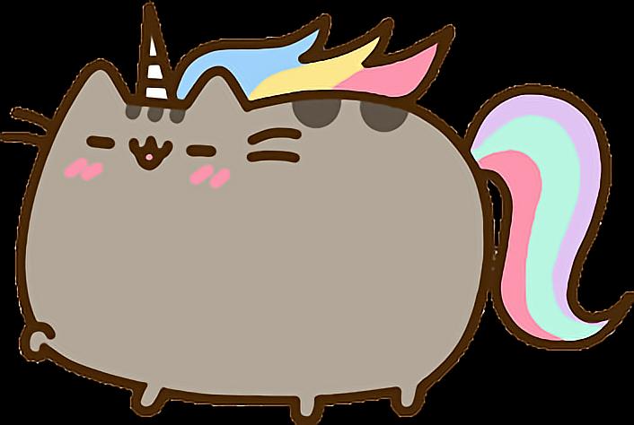 Unicorn Pusheen Rainbow Sticker By Alissa Denae