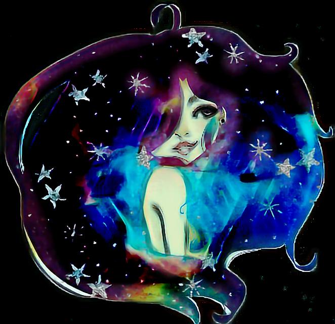 #starry hair girl