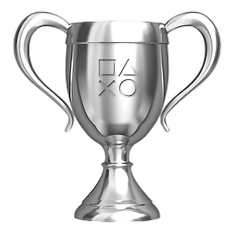 Silver Game Playstation Trophy Freetoedit
