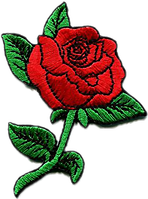 Sticker Rose Patch Tumblr Aesthetic Cute Kawaii Pastel Red 249170614024212 on Queen Clip Art